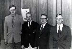 OAWA Board Gathering Charles Lawrence-Wm. Wodicka-Ed Asher-Tom Krupp